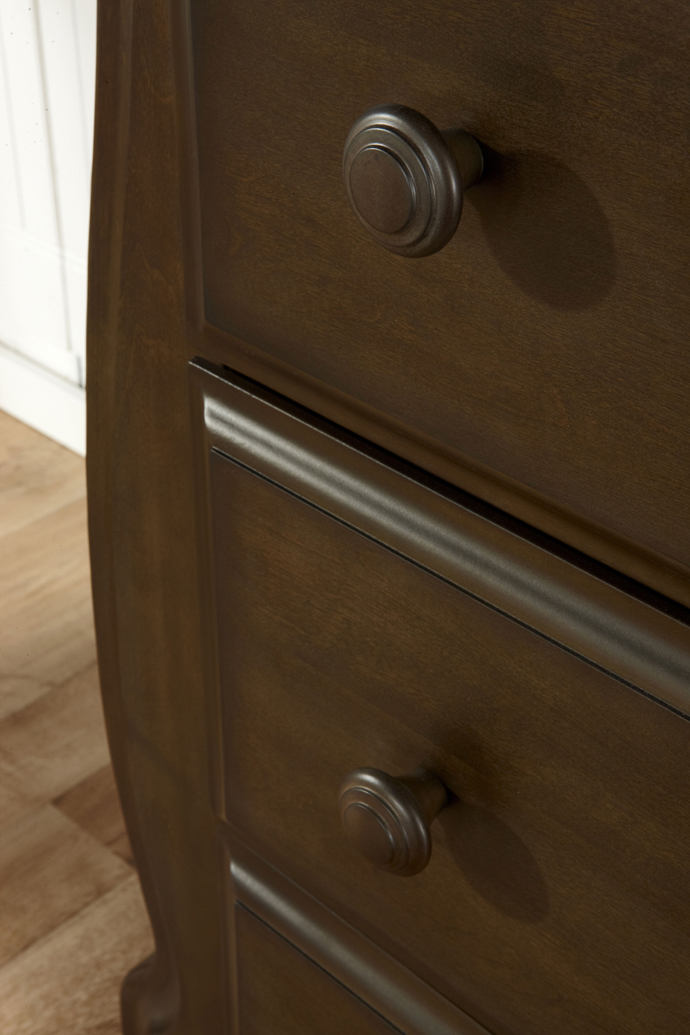 A detail of the 1904 <b>Bergamo 4-Drawer Dresser</b> in Earth: The new reference in style!