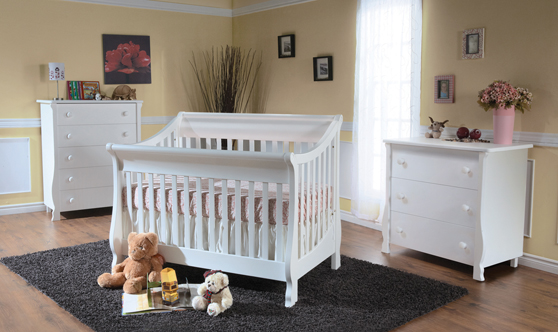 Now in Stock: The <b>Carina</b> Forever Crib, <b>100% Made in Italy!</b> <br>Available in Mocacchino and White.