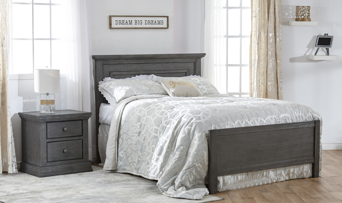 Now in Stock: The <b>Low Profile Footboard</b>. A fresh new look for your crib conversion! Here featured with the Modena Collection.