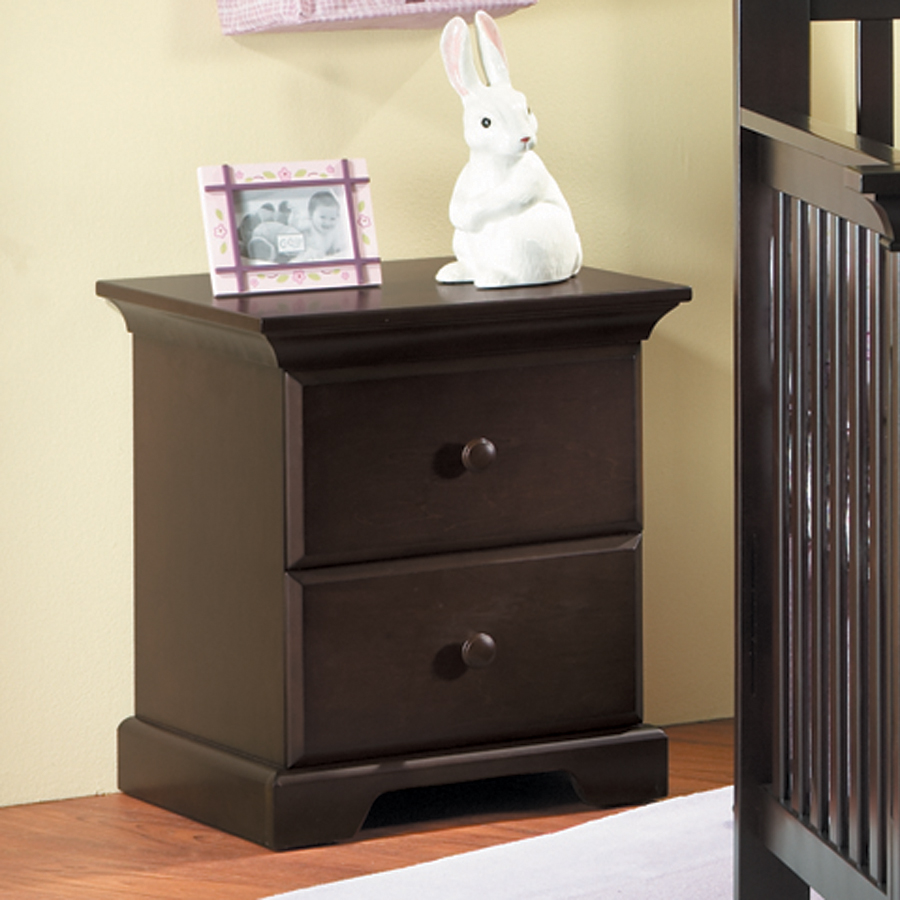 <b>Volterra Nightstand</b>, in Mocacchino (finish not available).