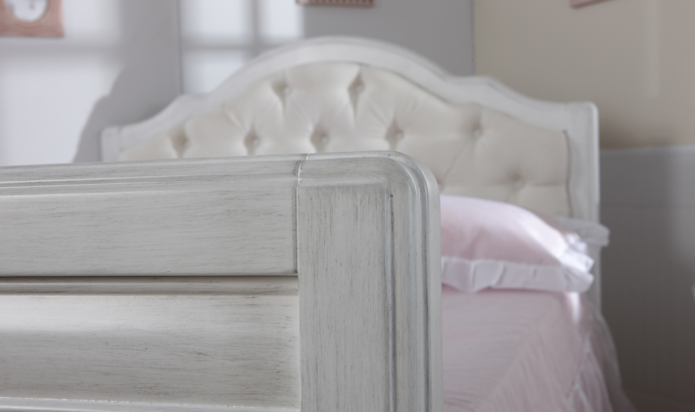 The <b>Cristallo Forever Crib</b>, converted into a <b>full-size bed</b> –