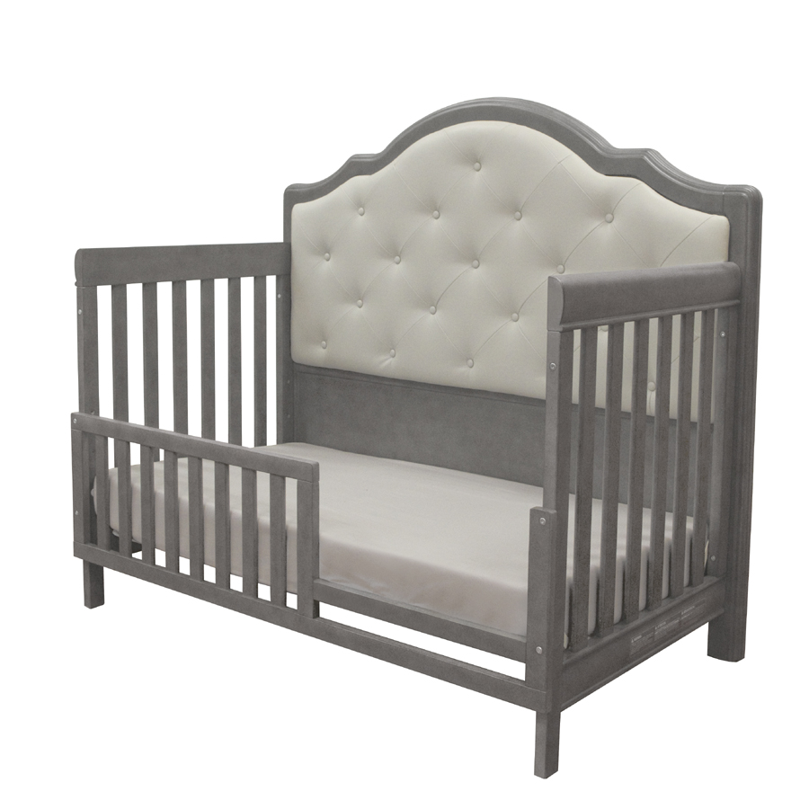 The <b>Cristallo Forever Crib</b> as an amazing <b>toddler bed</b>, in Granite.