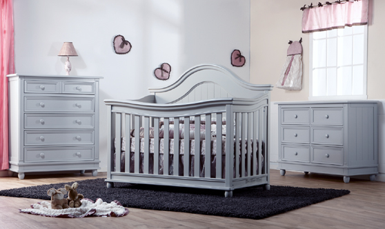 The <b>Marina</b> Collection.<br>Here is the 1600 Forever Crib in Stone.