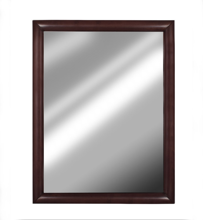 The <b>7777 Pali Mirror</b> in Mocacchino.<br> Please note that the mirror can be also hung on a wall (in portrait or landscape positions) thanks to its pre-installed hooks.