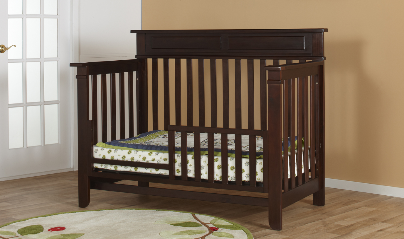 The <b>Torino Toddler Bed</b>, shown in Mocacchino.