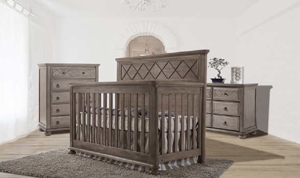 The <b>Vittoria</b> Convertible Crib. Another example of elegance and refined taste.