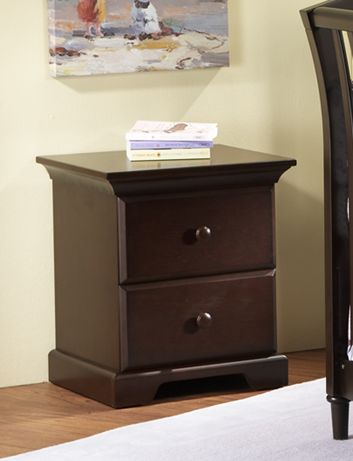 <b>Volterra Nightstand</b>, in Vintage Cherry (finish not available).