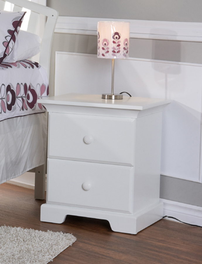 <b>Volterra Nightstand</b>, in White (finish not available).