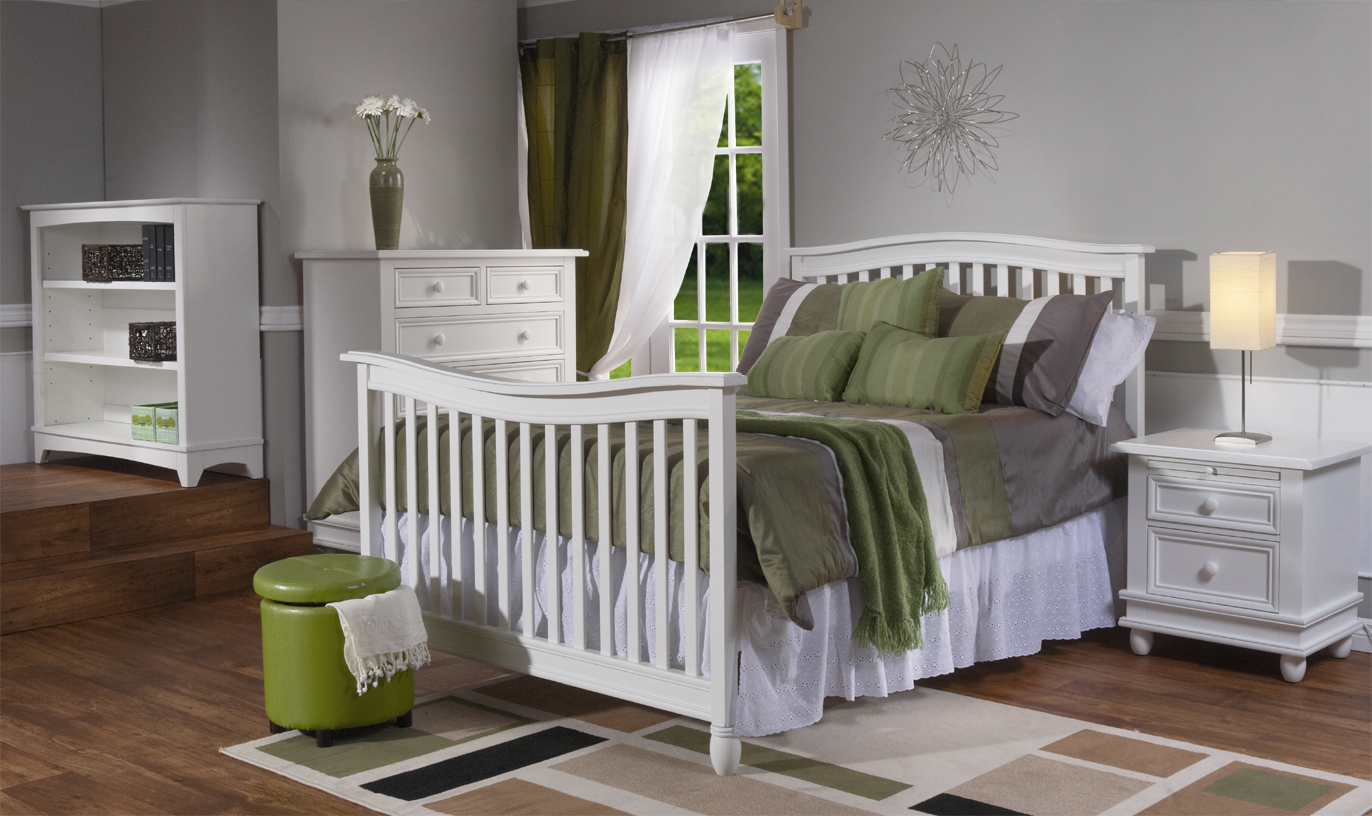 <b>Wendy Full-Size Bed</b> shown in Distressed White (finish not available). <br>