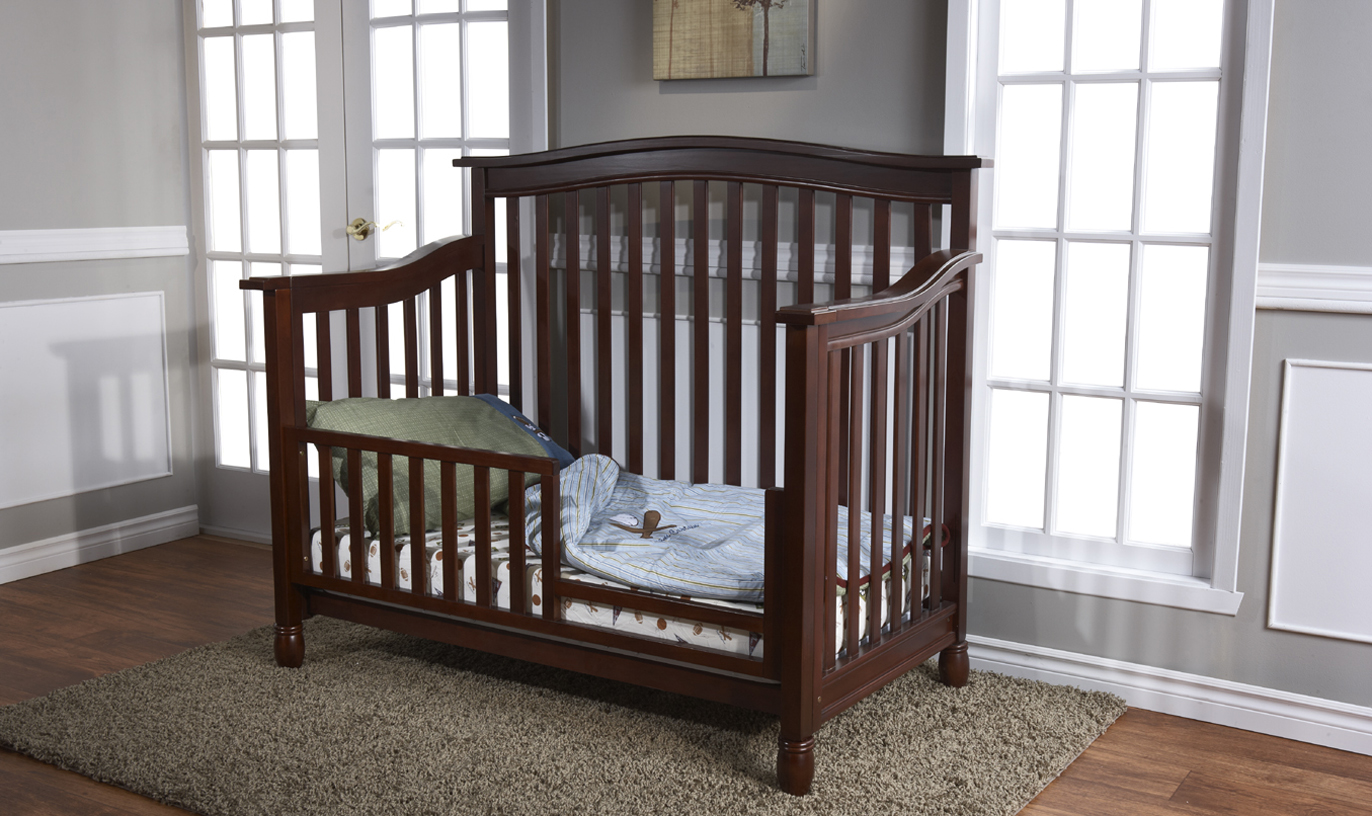 <b>Wendy Forever Crib</b> shown as a Toddler Bed in Chocolate (finish not available).  <br>